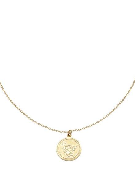 Fashion-Click Ketting Coin Angel