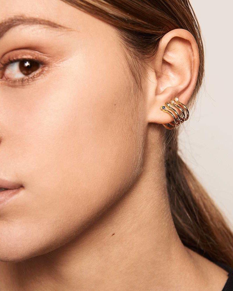 Fashion-Click P D Paola Oorbellen Aqua Gold