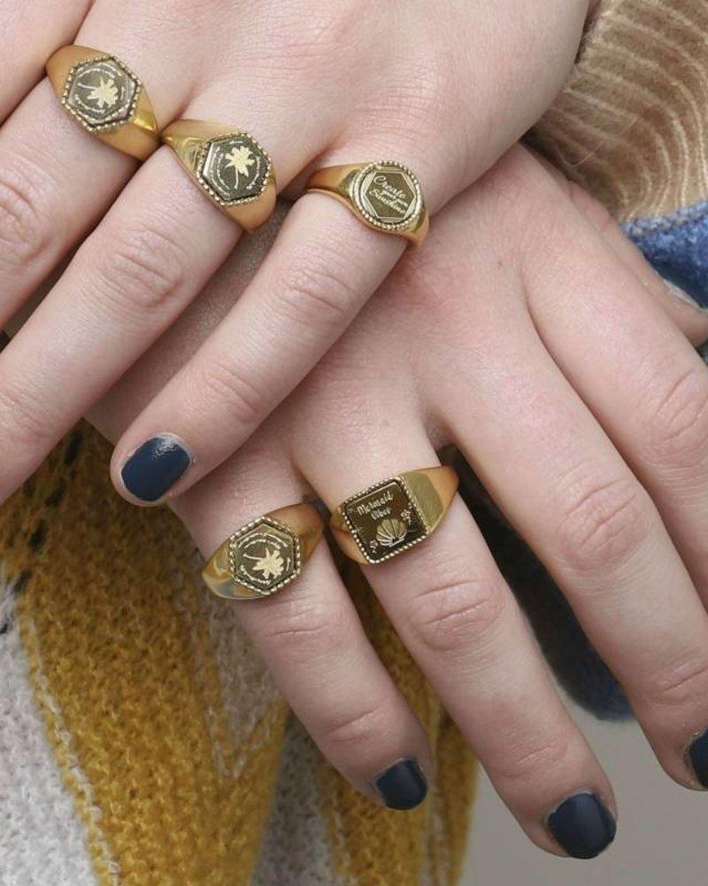 Fashion-Click Signet Ring Palmtree