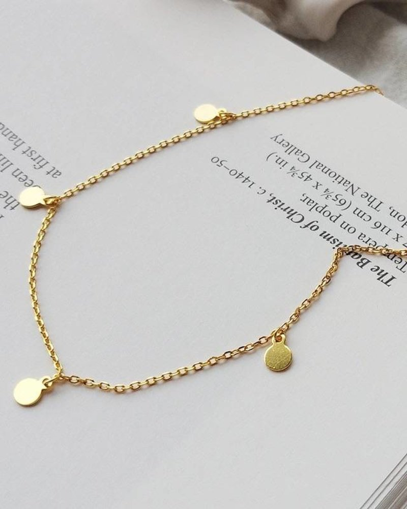 Fashion-Click Ketting 5 Little Coins