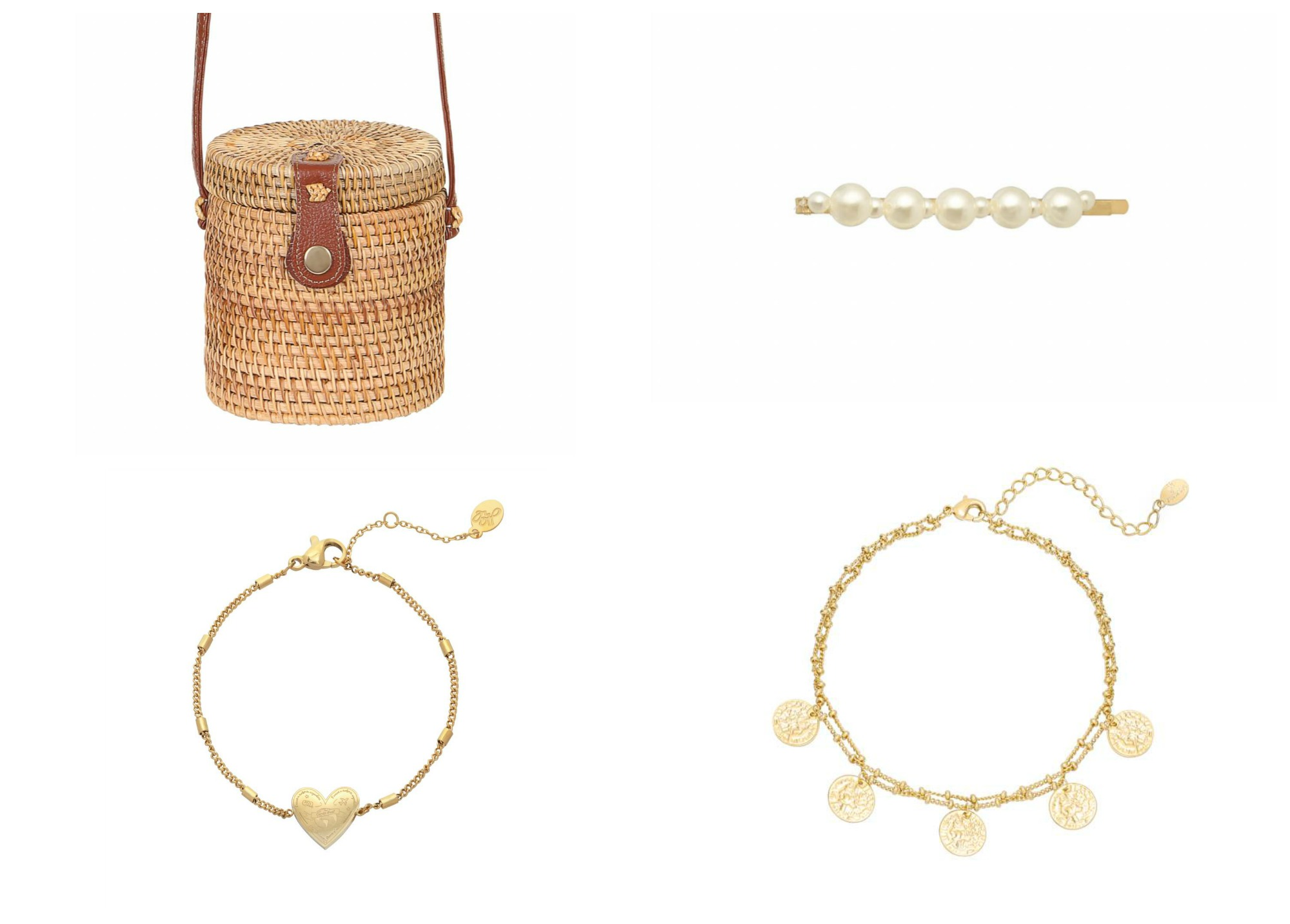 vintage look accessoires nostalgie sieraden haarband rieten tas