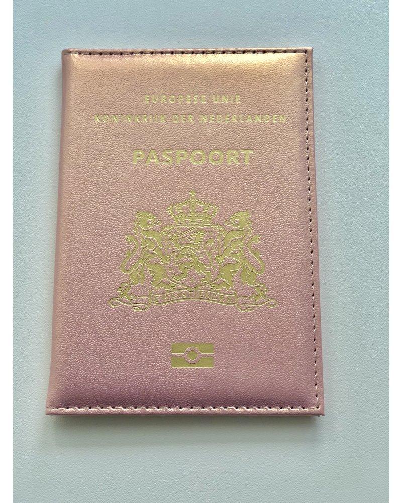 Fashion-Click Paspoorthoesje Metallic Pink