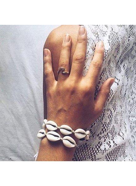 Fashion-Click Armband Naturel Shell