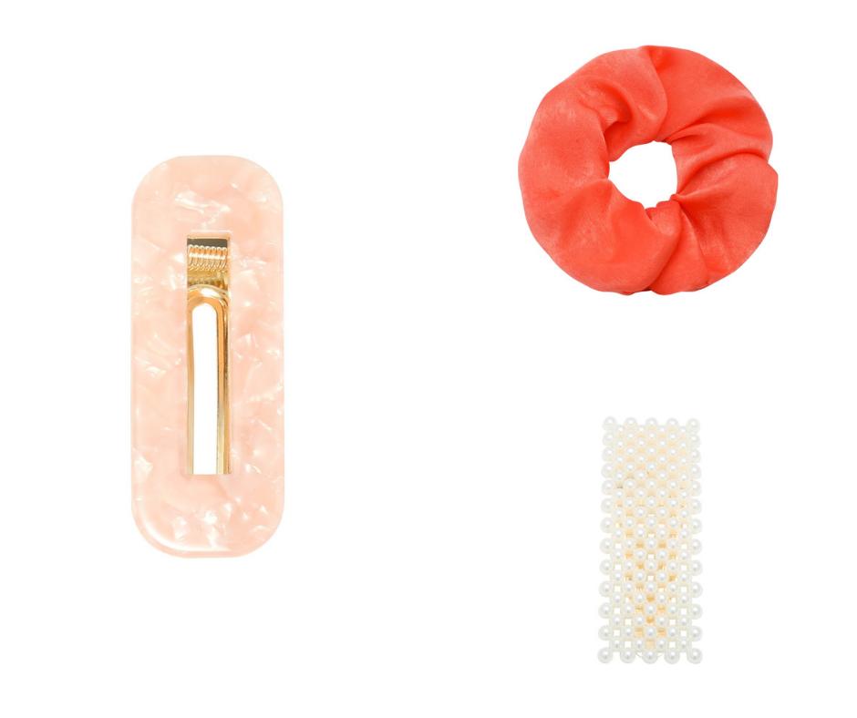 oranje items haaraccessoires scrunchie haarclips
