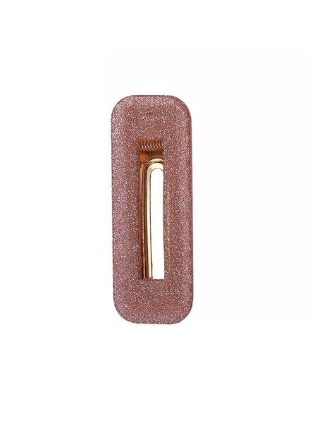 Fashion-Click Haarclipje Lois Glitter Pink