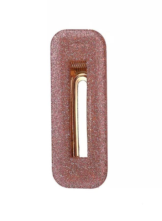 Haarclipje Lois Glitter Pink