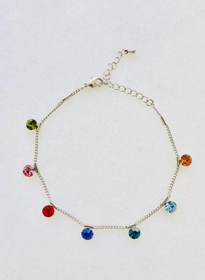 Enkelbandje Colourfull Gems