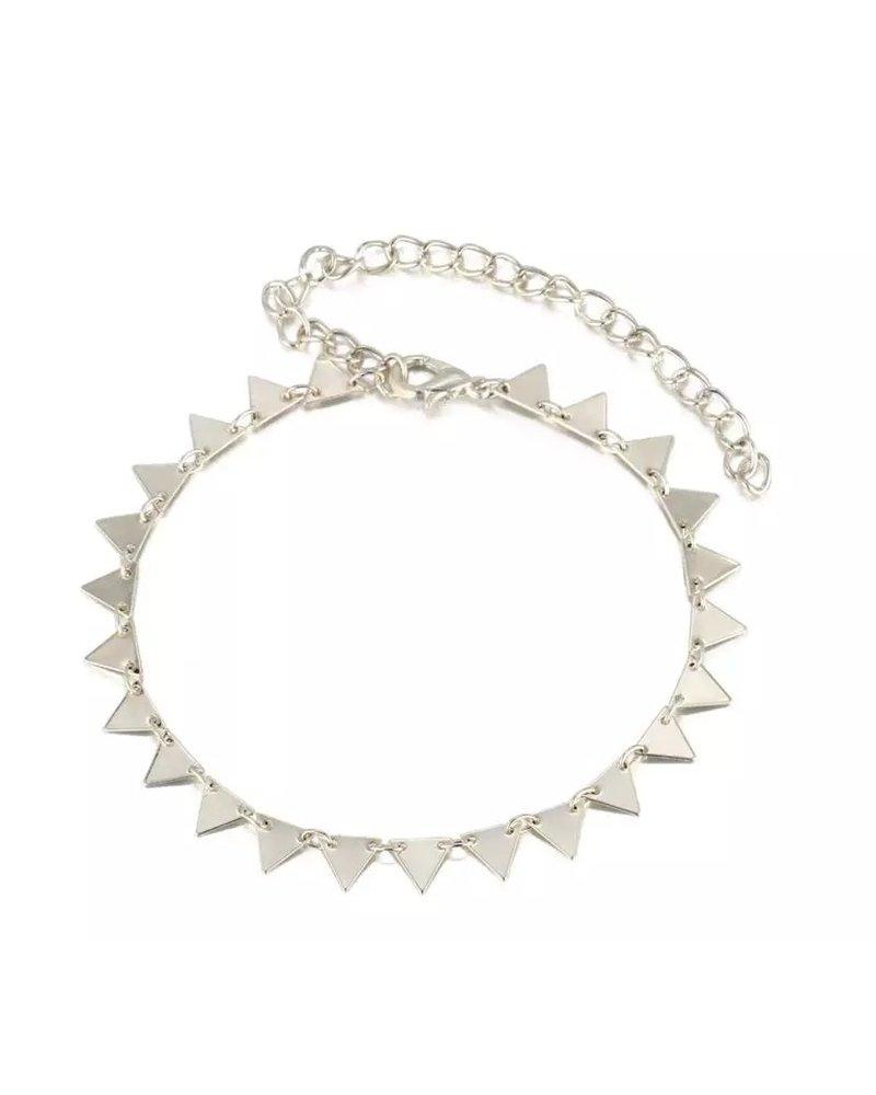 Fashion-Click Enkelbandje Triangles