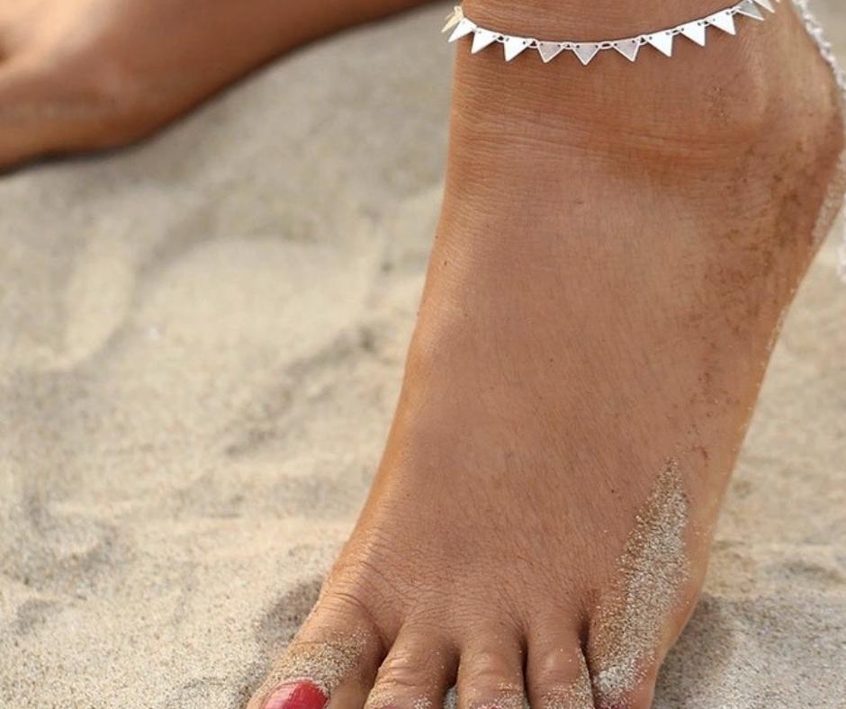 enkelbandje zilver driehoekjes traingle zig zag sieraad zomer strand