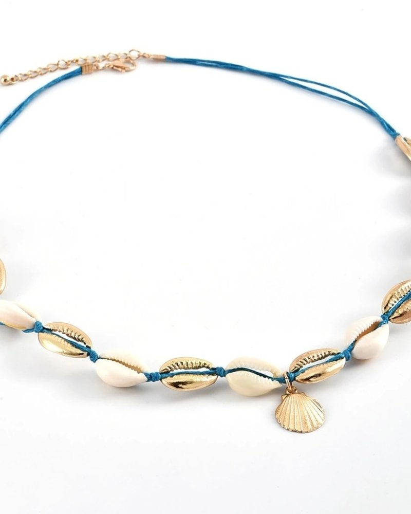 Fashion-Click Ketting Leather & Shells