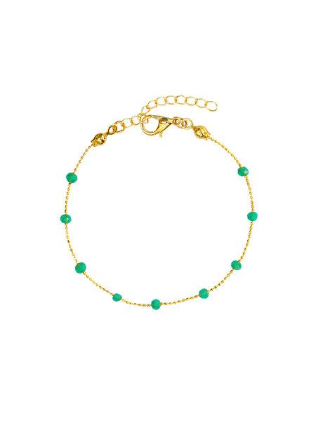 Fashion-Click Enkelbandje Basic Green