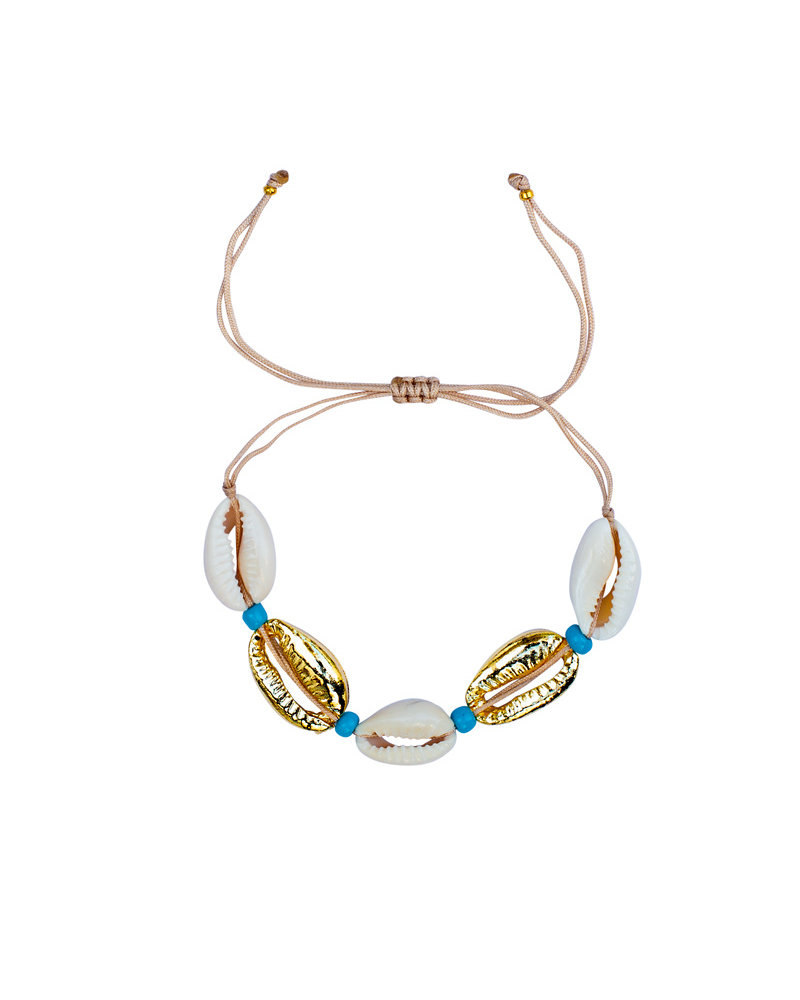 Fashion-Click Armband Shells & Blue Deluxe