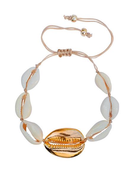 Fashion-Click Armband 1 Golden Shell