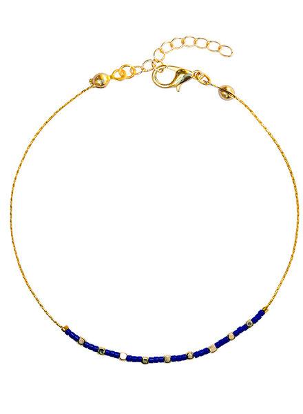 Fashion-Click Enkelbandje Capri Blue