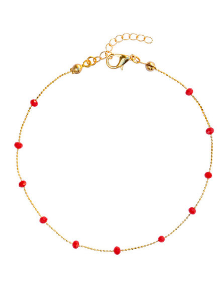 Fashion-Click Enkelbandje Basic Red