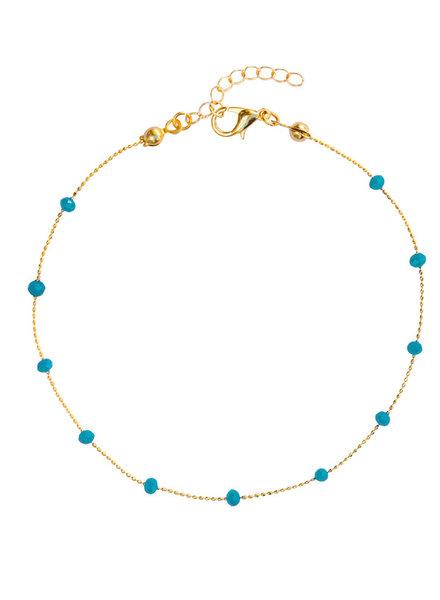 Fashion-Click Enkelbandje Basic Turquoise