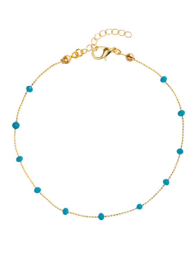 Enkelbandje Basic Turquoise