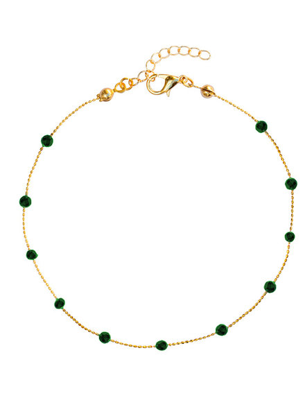 Fashion-Click Enkelbandje Basic Dark Green