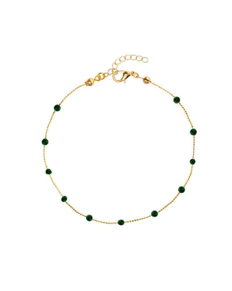 Fashion-Click Enkelbandje Basic Dark Green