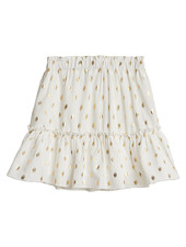 Fashion-Click Rokje White Golden Dots