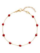 Fashion-Click Enkelbandje Square Beads Red