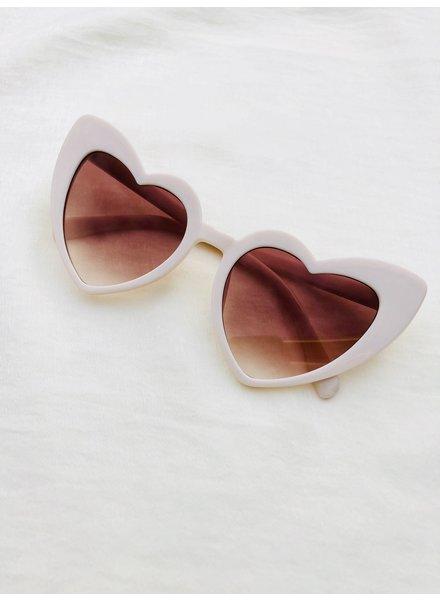 Fashion-Click Zonnebril Heart Shape Nude