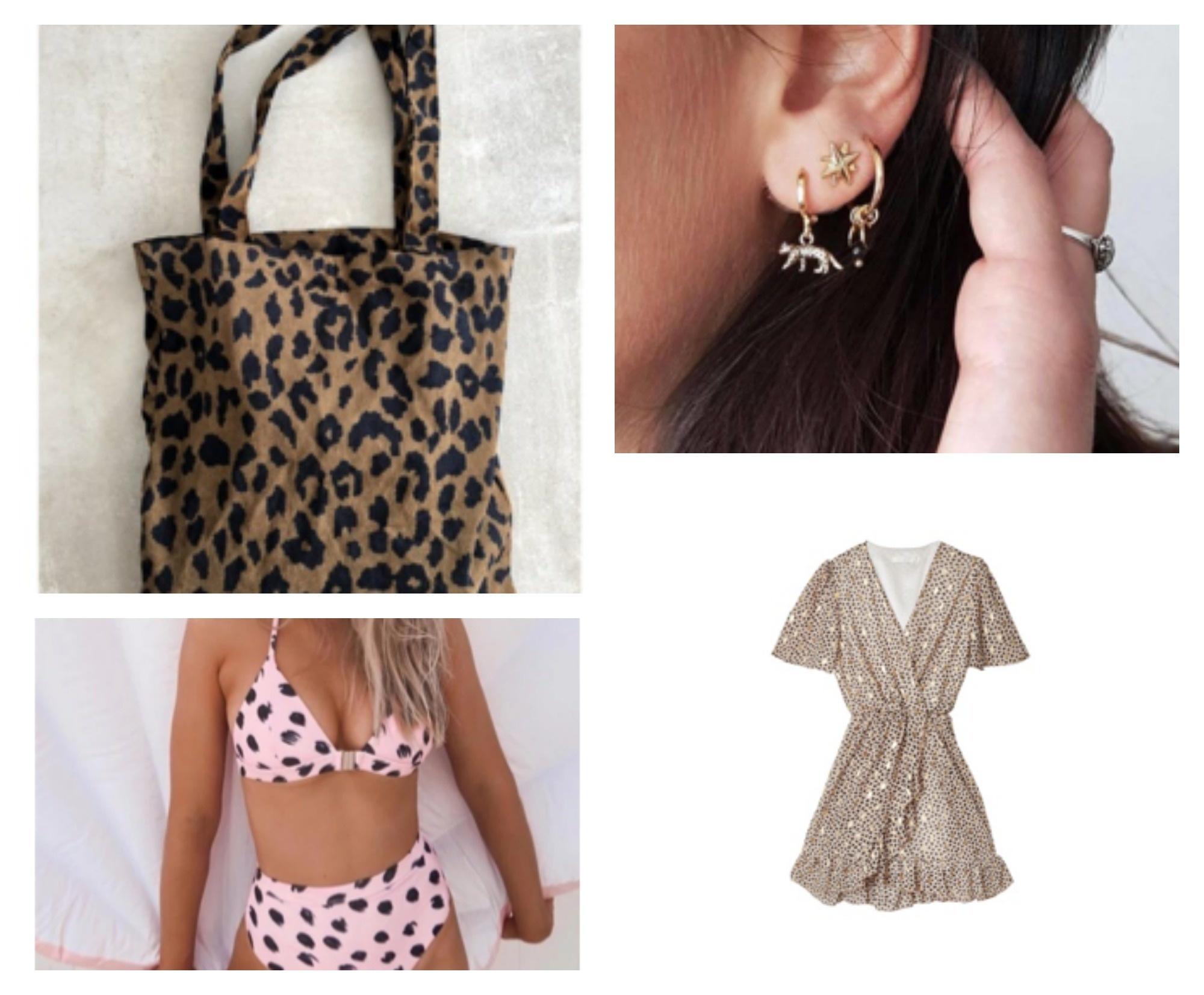 bestsellers zomer 2019 bikinis leopard tas oorbellen jurk