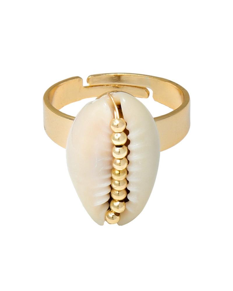 Fashion-Click Ring Shell Beauty