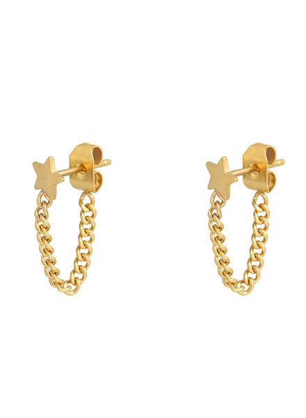 Fashion-Click Oorbellen Star & Chain