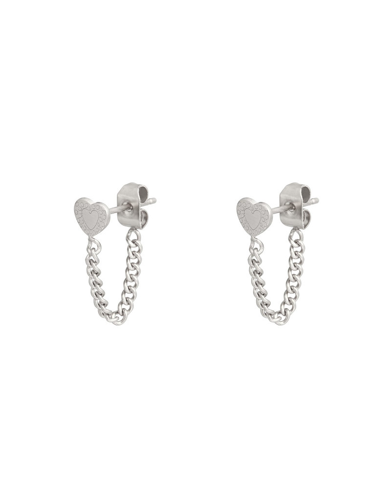 Fashion-Click Oorbellen Heart & Chain