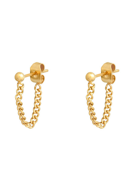 Fashion-Click Oorbellen Dot & Chain