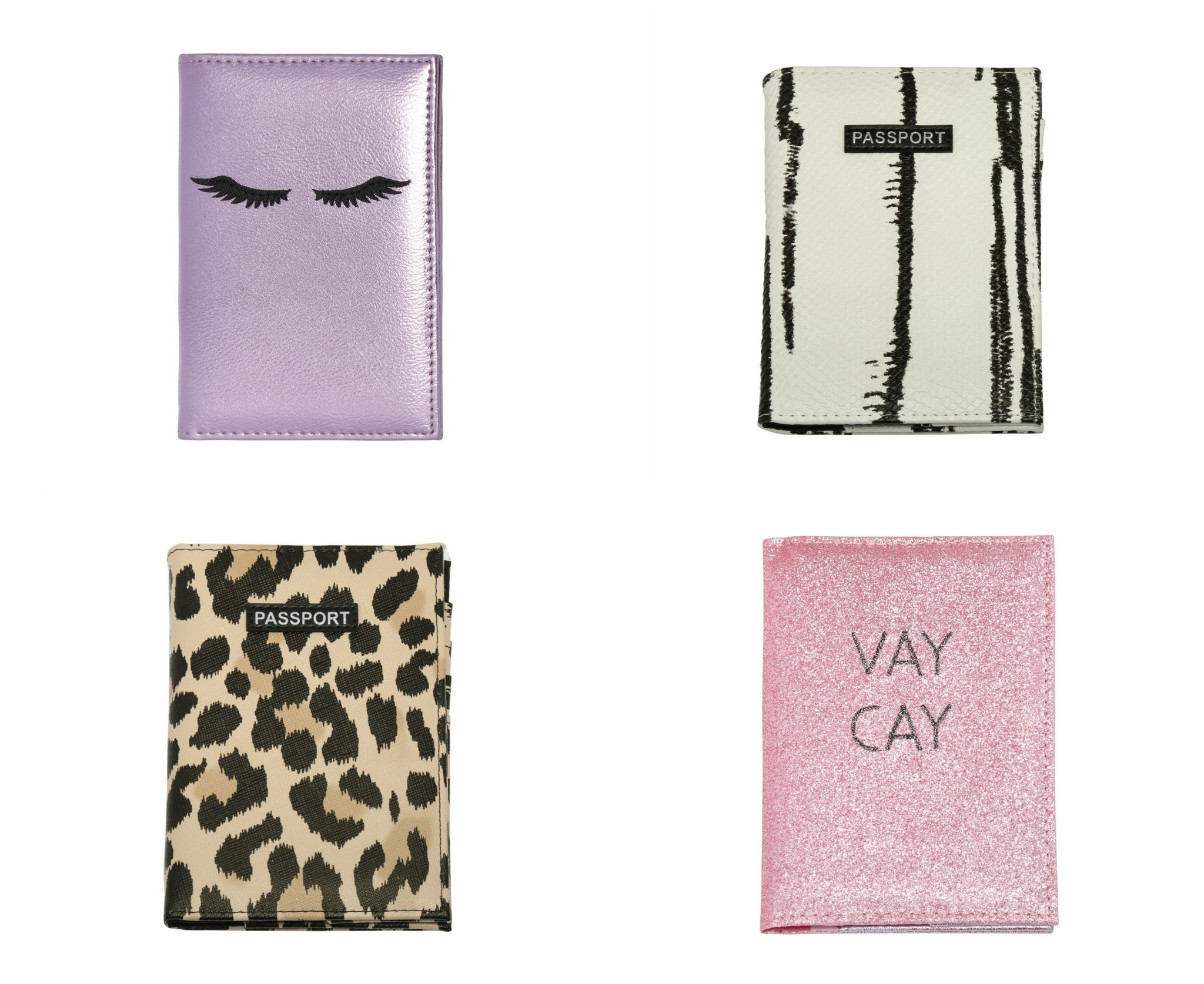 shop trendy paspoorthoesjes metallic dierenprint glitter roze