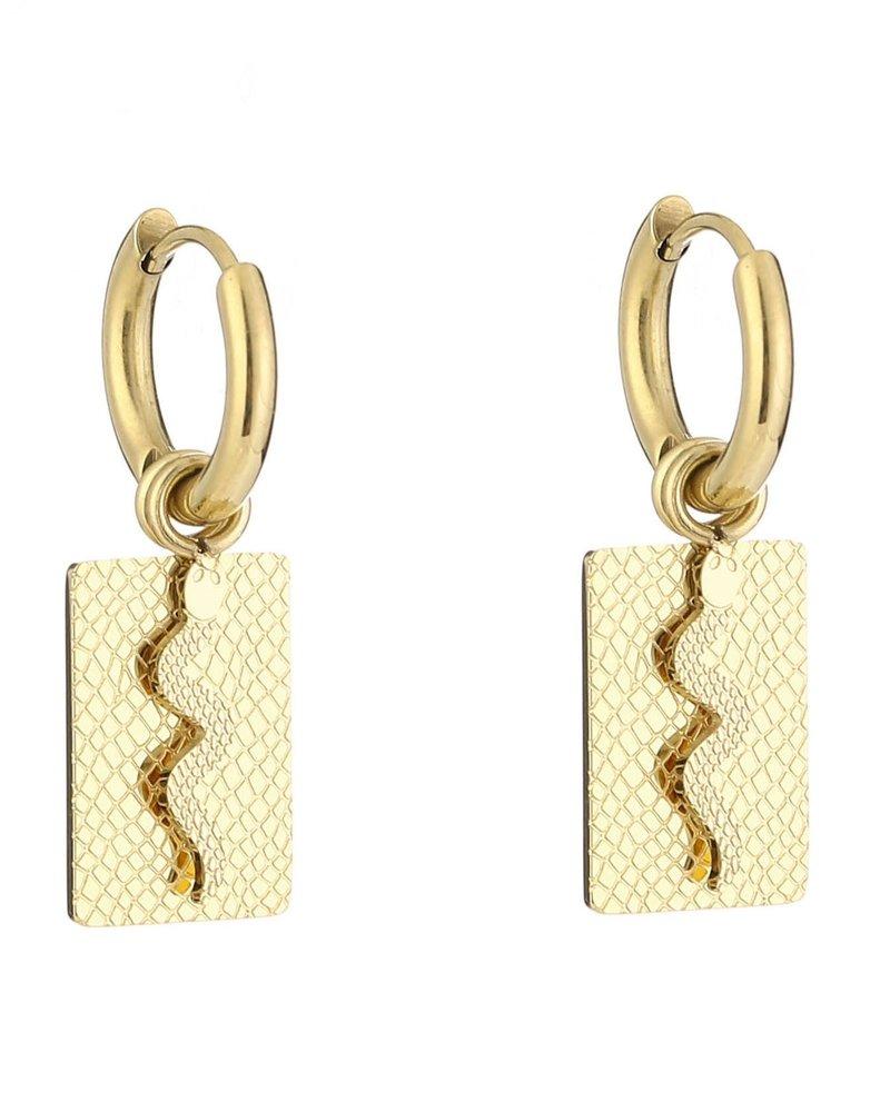 Fashion-Click Oorbellen Snake Plate