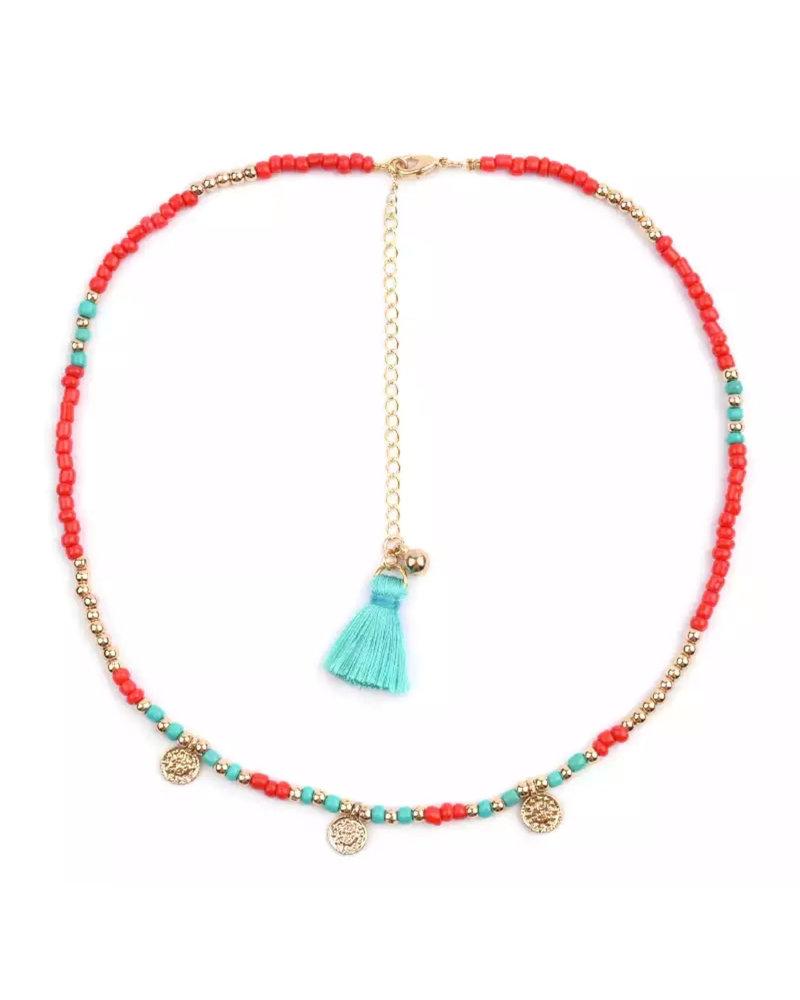 Fashion-Click Ketting Beads & Coins Bogota