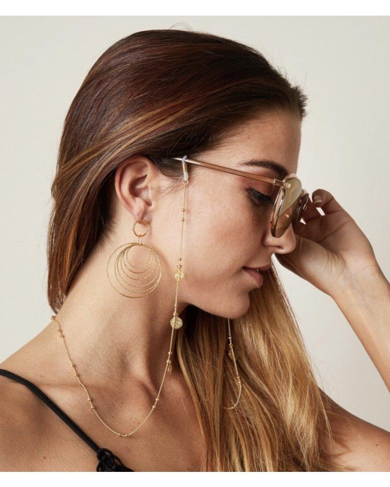 Fashion-Click Zonnebril Koord Coins