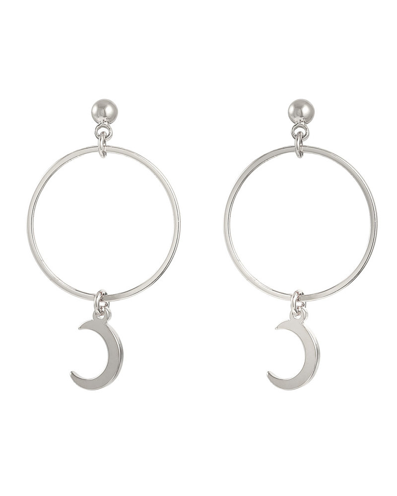 Fashion-Click Oorbellen Hoops & Moon