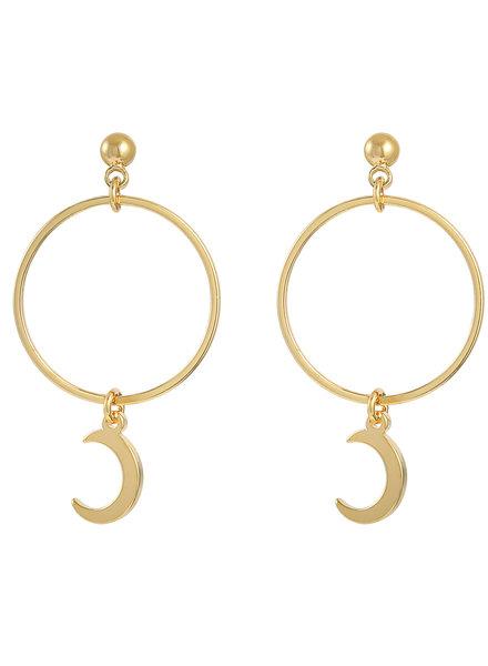 Fashion-Click Oorbellen Hoops & Moon