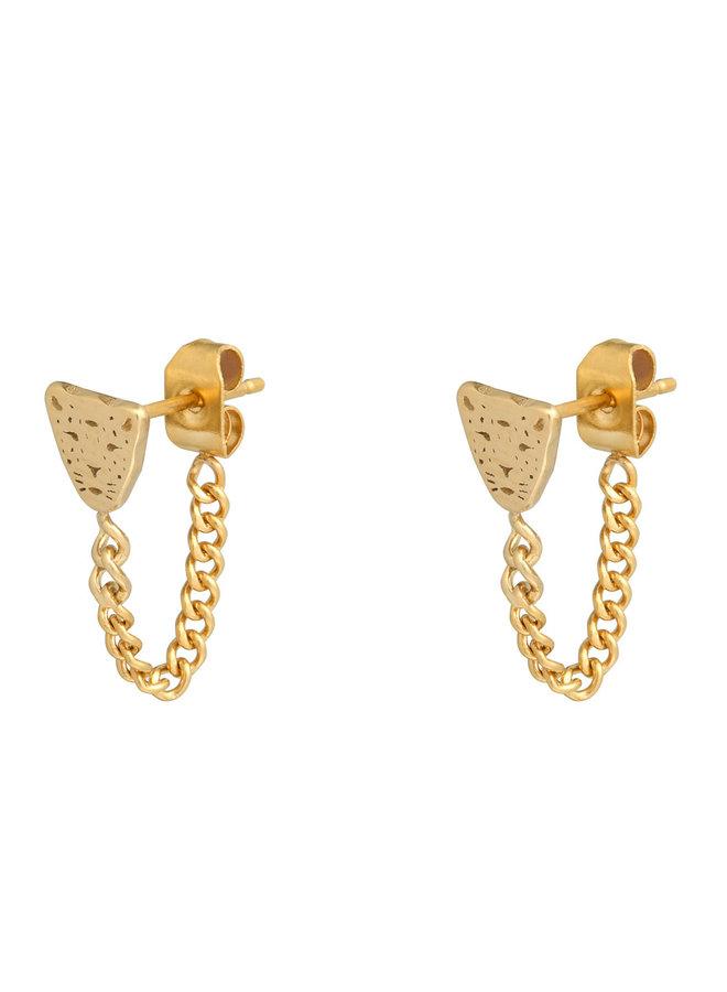 Oorbellen Leopard & Chain