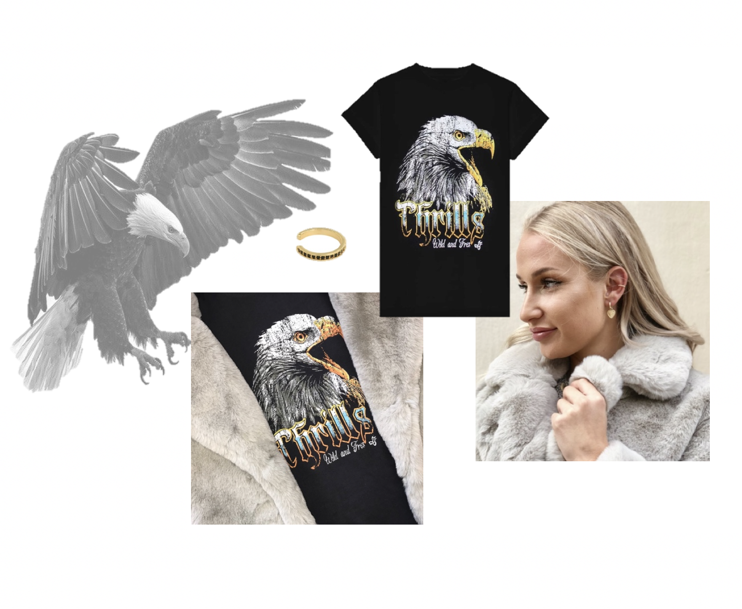 earcuffs trend eagle tshirt canvas tas stoer najaar