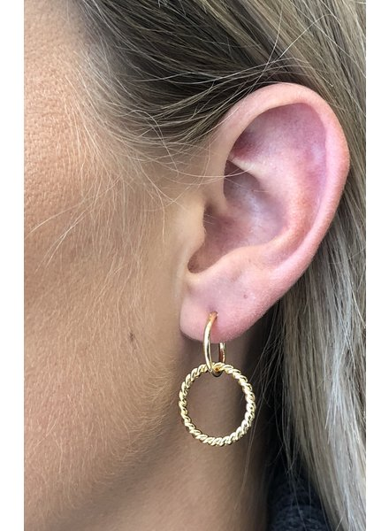 Fashion-Click Oorbellen Twisted Hoops