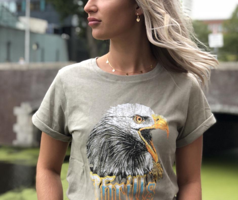 eagle-tshirt-beige-groen-stoer-print-arend