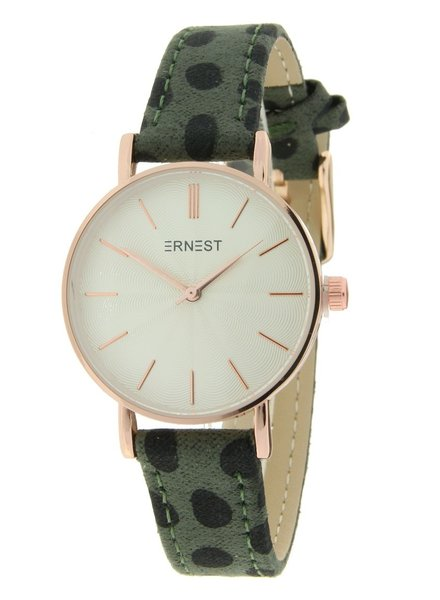 Fashion-Click Horloge Mini Cheetah Green