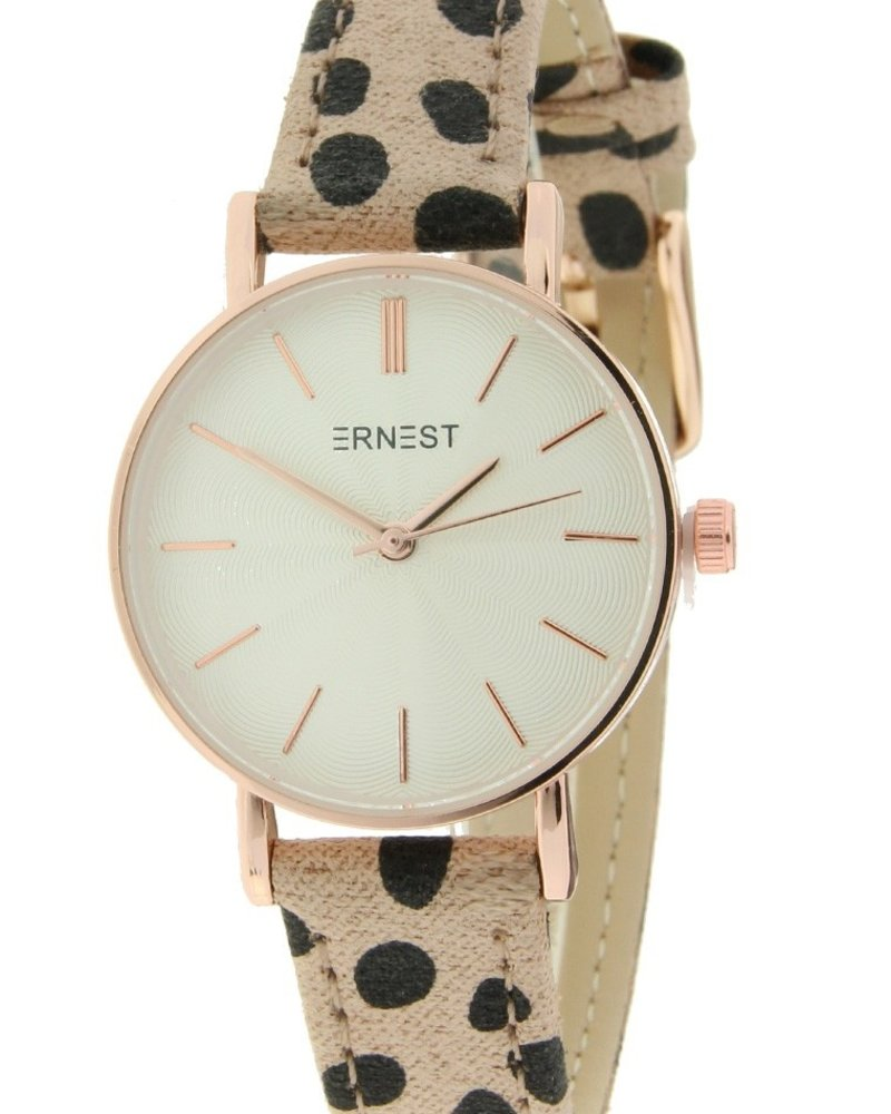 Fashion-Click Horloge Mini Cheetah Beige