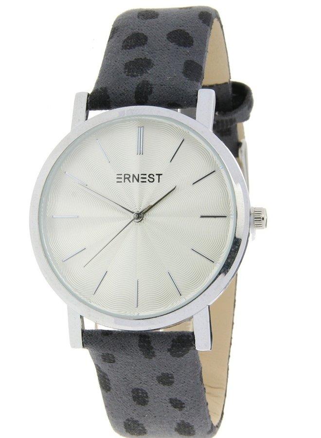 Horloge Minimalist Cheetah Grijs  Zilver