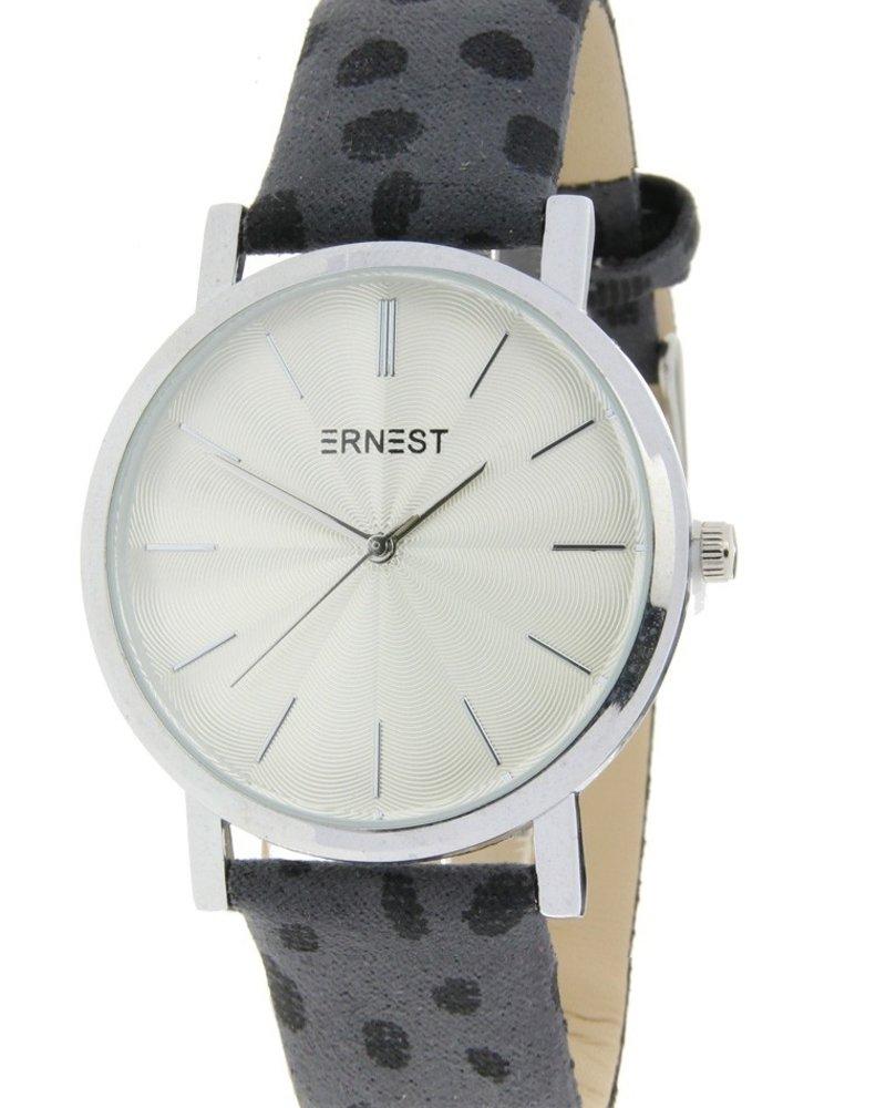 Fashion-Click Horloge Minimalist Cheetah Grijs  Zilver