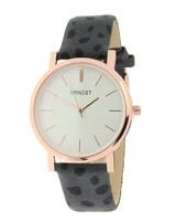 Fashion-Click Horloge Minimalist Cheetah Grijs Rose