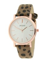 Fashion-Click Horloge Minimalist Cheetah Mocca Rose