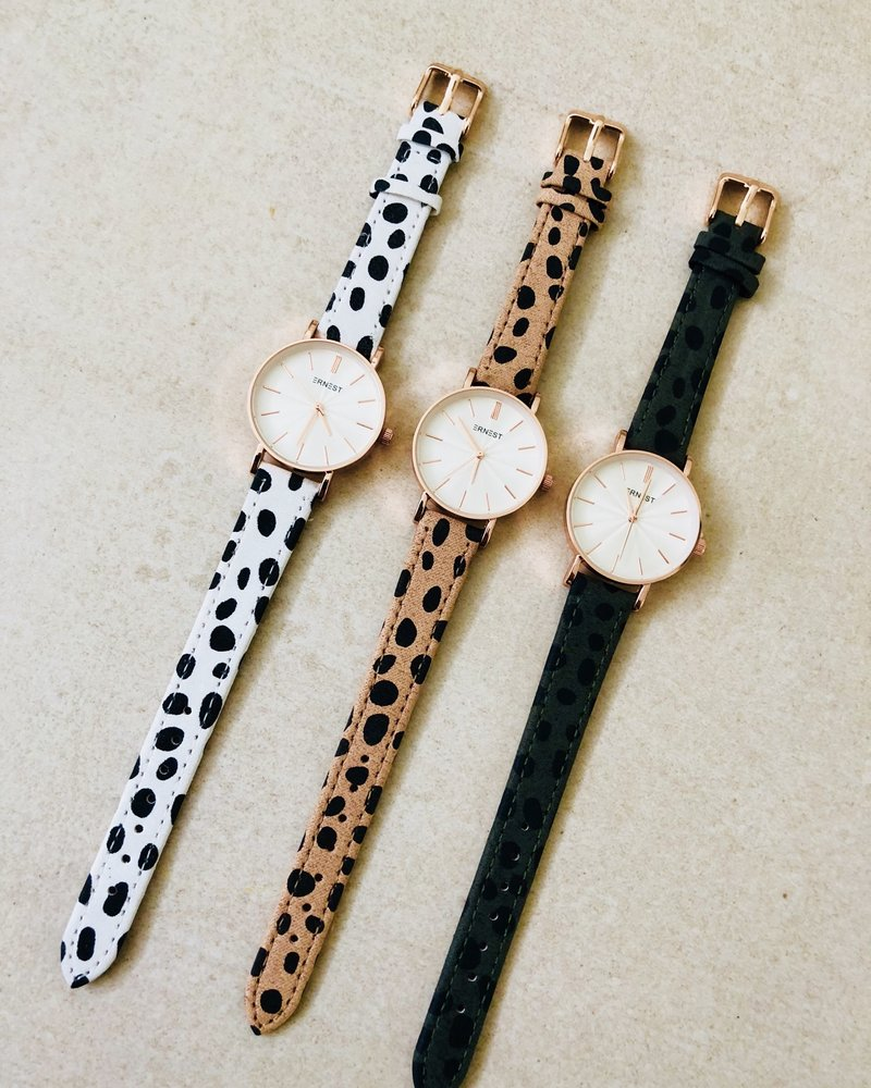 Fashion-Click Horloge Mini Cheetah Off White