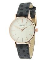 Fashion-Click Horloge Mini Cheetah Grijs