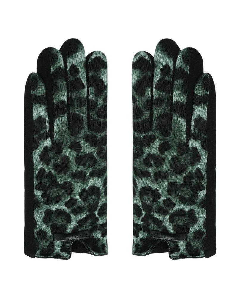 Fashion-Click Handshoenen Leopard Green